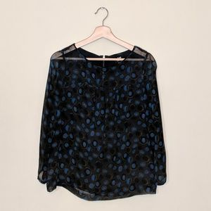 W BY WORTH Printed Silk Blouse Size 4